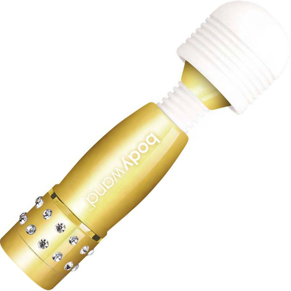 "BodyWand Waterproof Vibrating Mini Massager 4"" Gold - View #2"