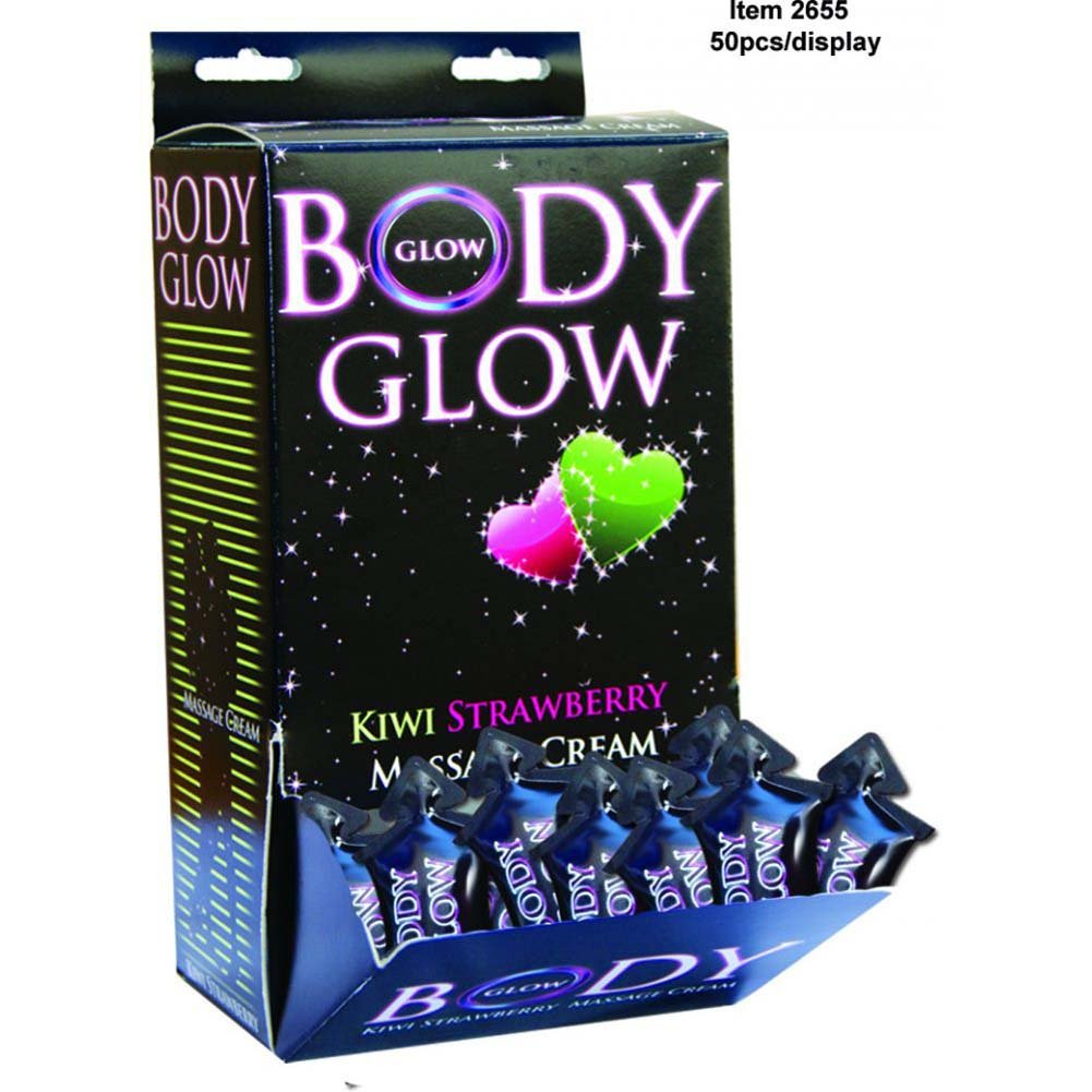 Body Glow Kiwi Strawberry Massage Cream 50 Piece Display Case 10 Ml Pillows - View #1