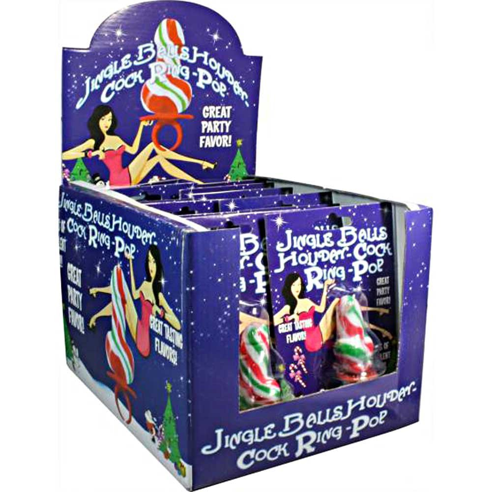 Jingle Balls Holiday Cock Ring Pops 12 Piece Display - View #2