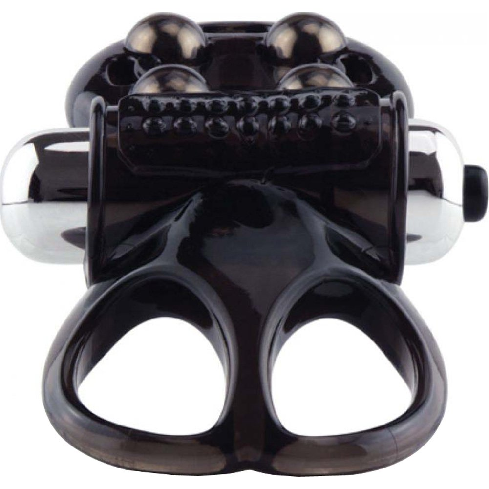 Screaming O the Oman Challenge Cock Ring One Size Black - View #3