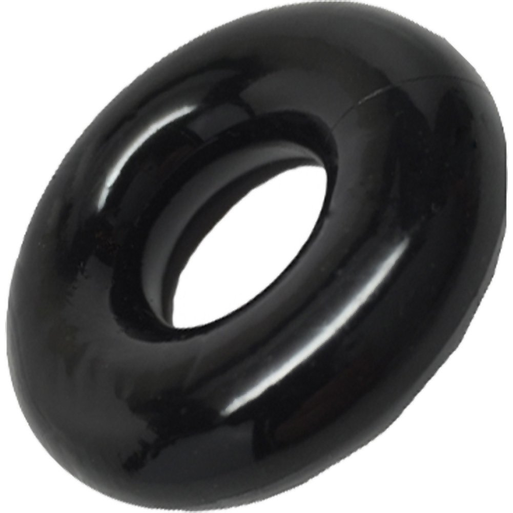 """Rock Solid 2"""" Black Donut Ring - View #2"""