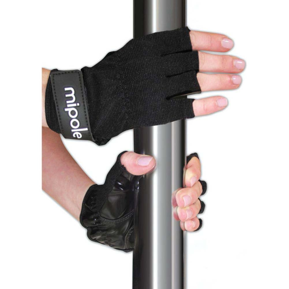 Mipole Dance Pole Gloves Pair Small Black - View #1