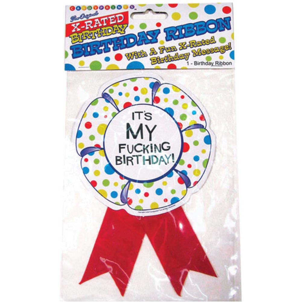 X-Rated Birthday Party Award Ribbon - View #1