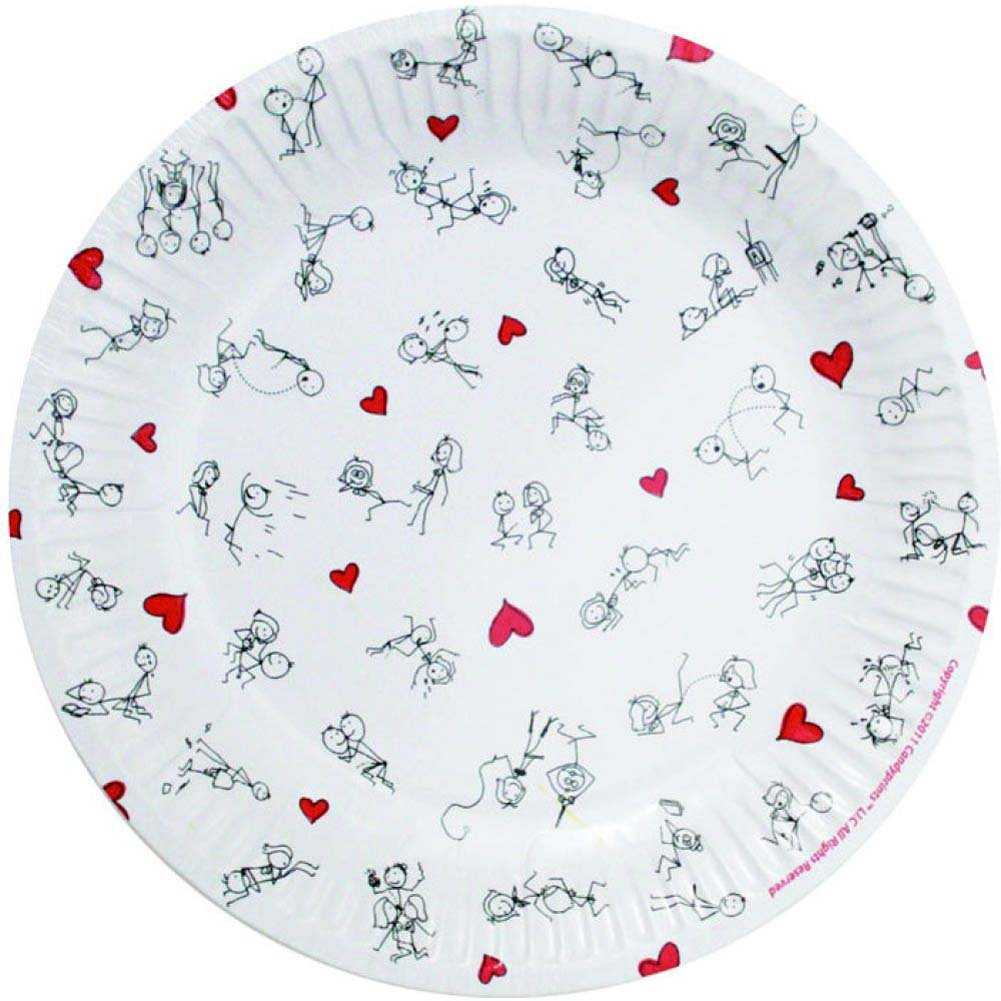 "Stick Figure Style 7"" Plates 8 Piece Pack - View #1"