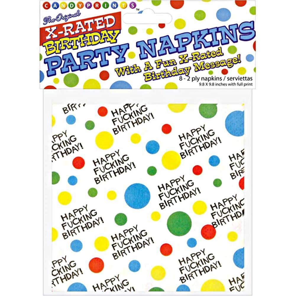X-Rated Birthday Party Napkins 2 Ply 8 Count - View #1