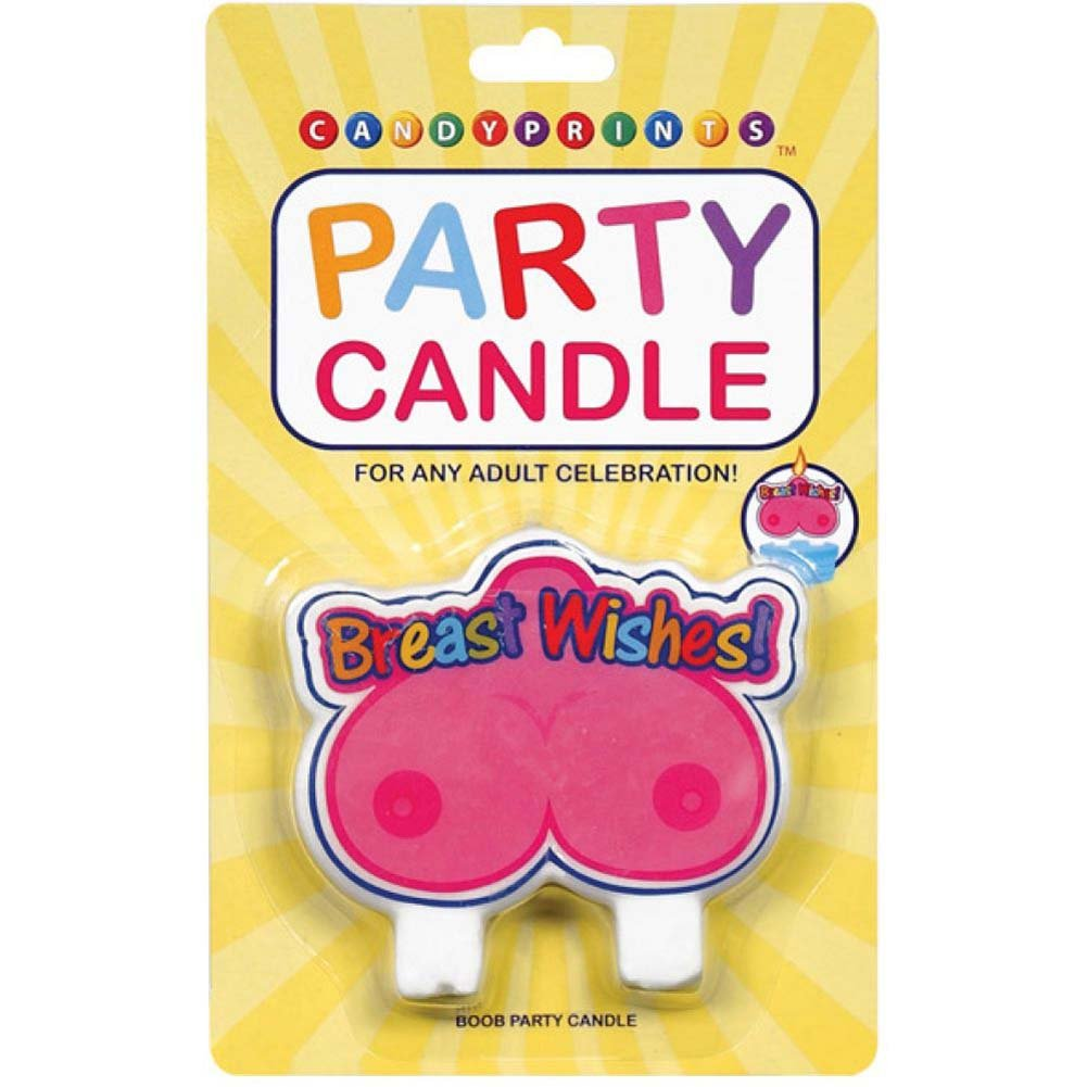 Breast Wishes Party Candle - View #1