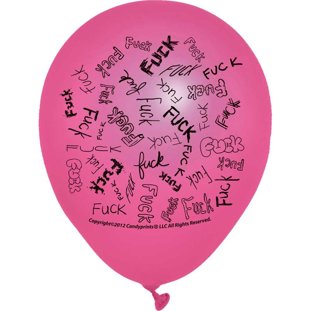 Dirty F-Bomb Balloons Assorted Colors 8 Piece Pack - View #1