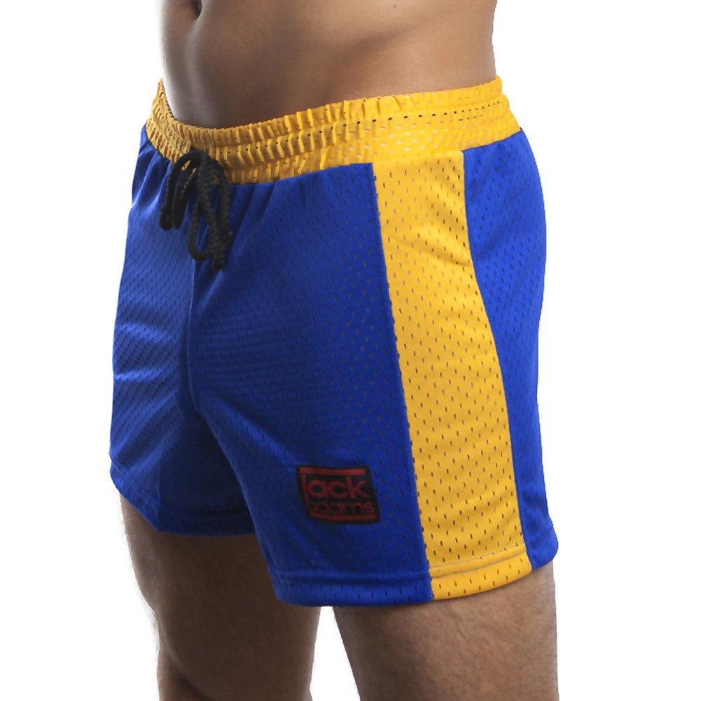 Jack Adams Air Mesh Gym Short Blue Yellow Large - View #1