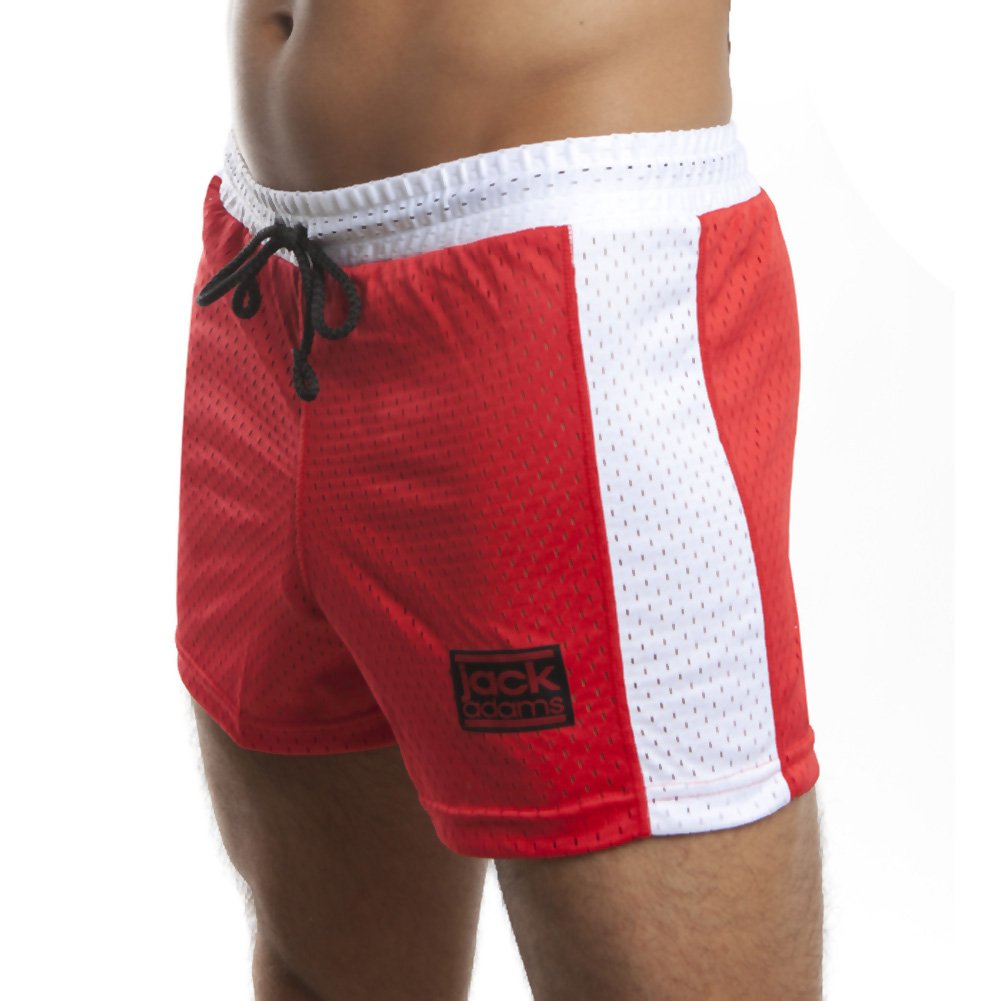 Jack Adams Air Mesh Gym Short Red White Extra Large - View #1