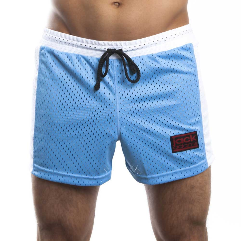 Jack Adams Air Mesh Gym Short Sky Blue White Large - View #2
