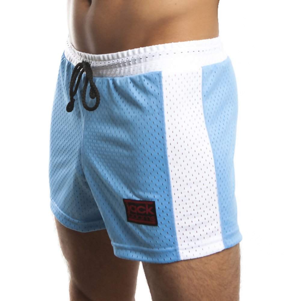 Jack Adams Air Mesh Gym Short Sky Blue White Extra Large - View #1