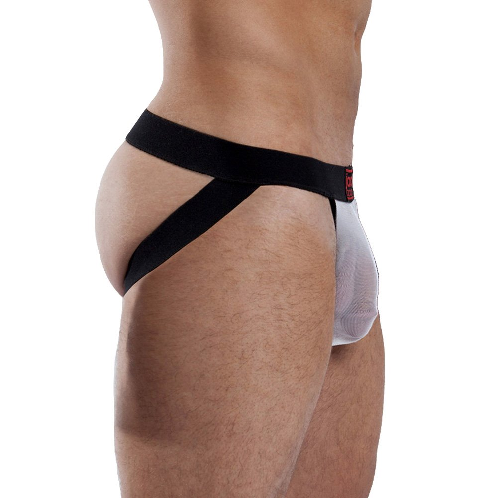 Jack Adams Miracle Jock with Elastic Lifts Black White Extra Large - View #2