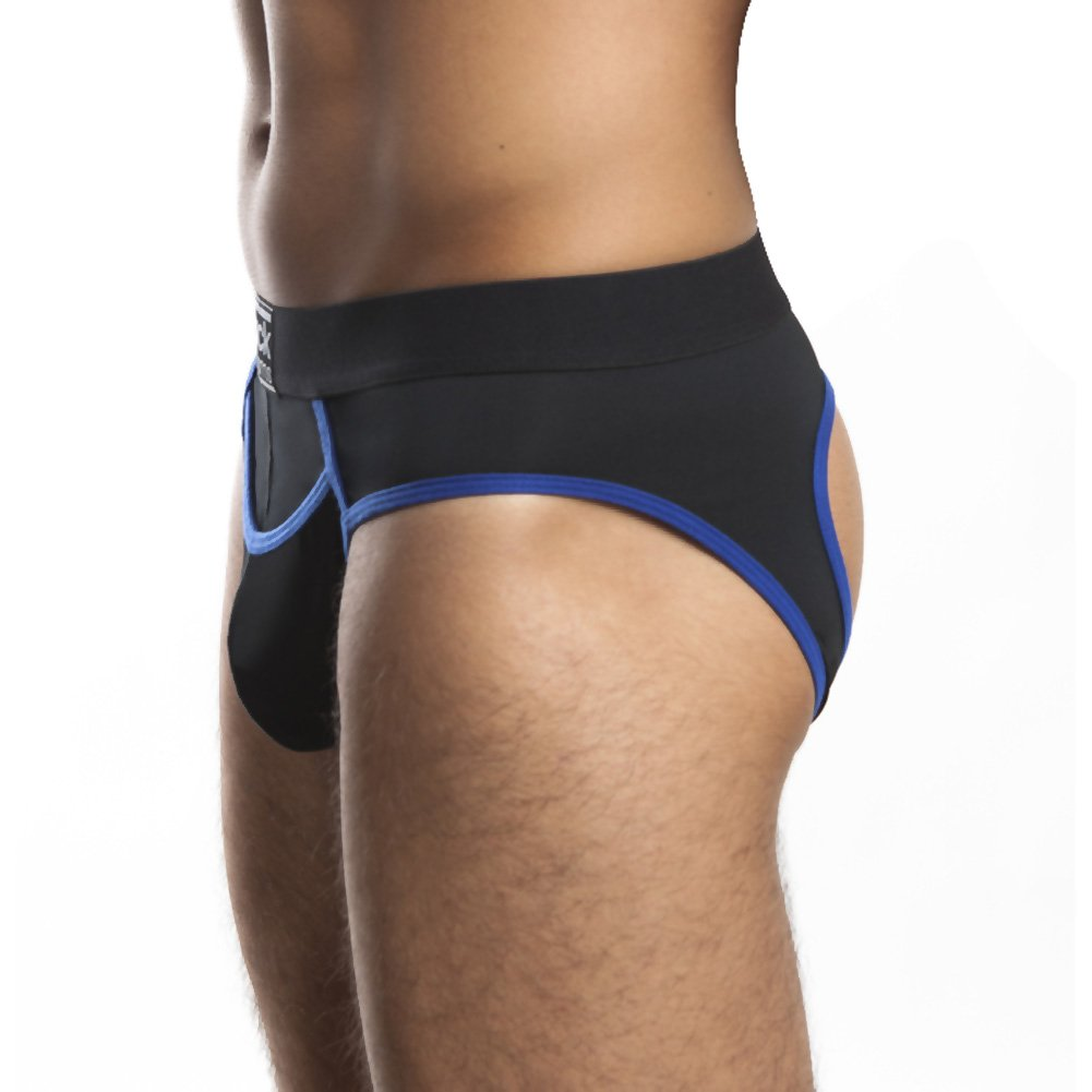 Jack Adams Flex Fit Jock Black Royal Medium - View #1