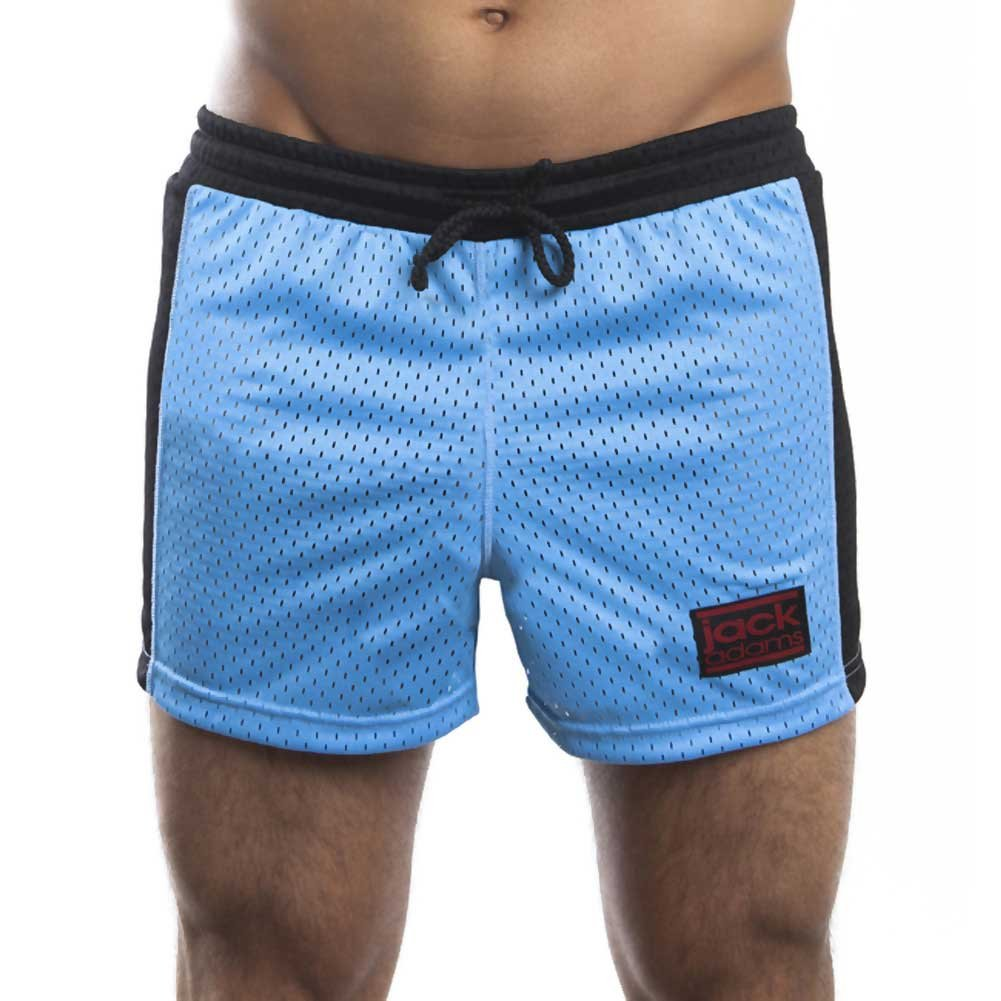 Jack Adams Air Mesh Gym Short Sky Blue Black Small - View #2