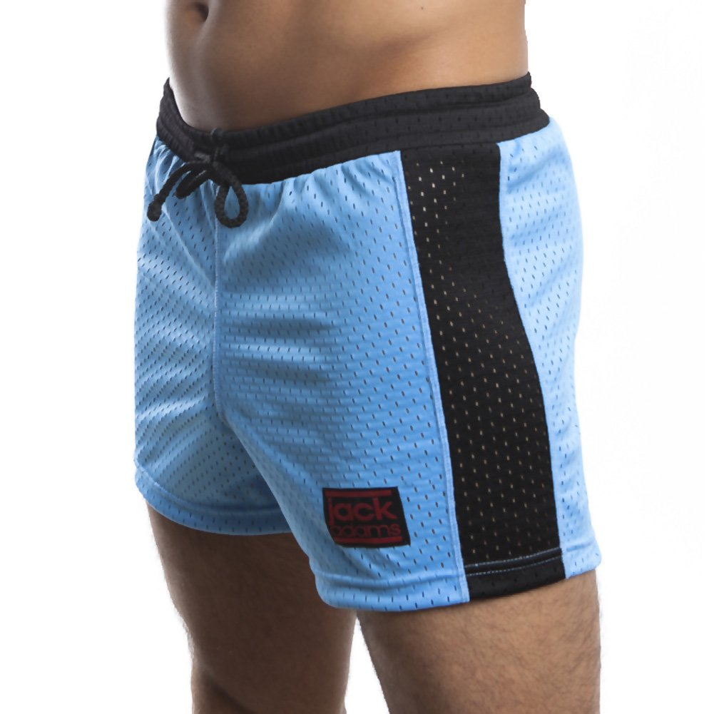 Jack Adams Air Mesh Gym Short Sky Blue Black Medium - View #1