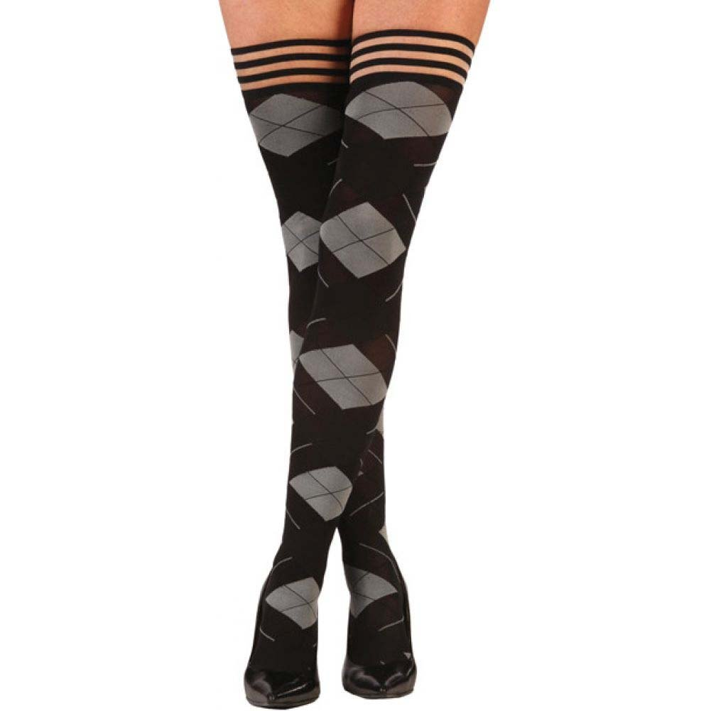KixIes Kimmie Argyle Thigh High Argyle C - View #1