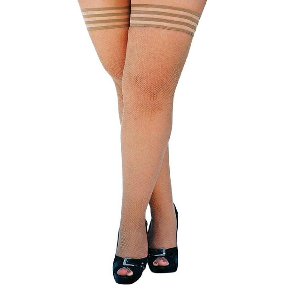 KixIes Samantha Fishnet Thigh High Nude D - View #1