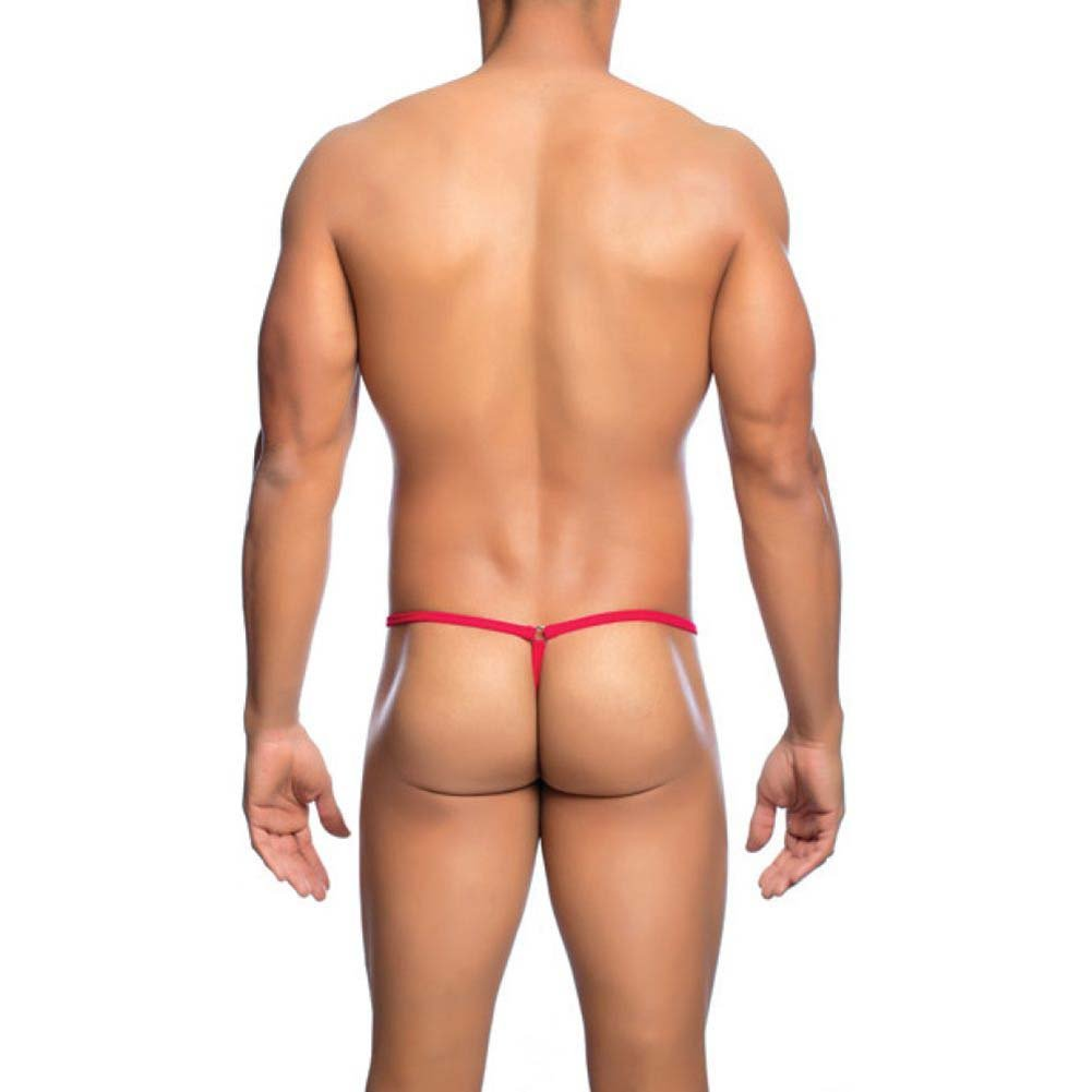 Male Basics Mob Side Way Thong Red Large Extra Large - View #2