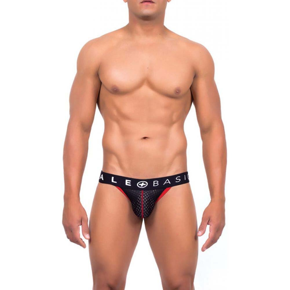 Male Basics Spot Jock Black Small - View #2