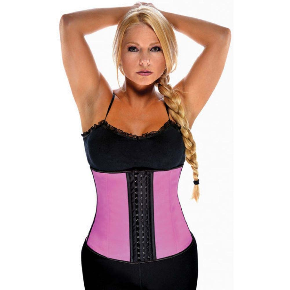 Gym Work Out Waist Trainers Hot Pink 2X - View #1