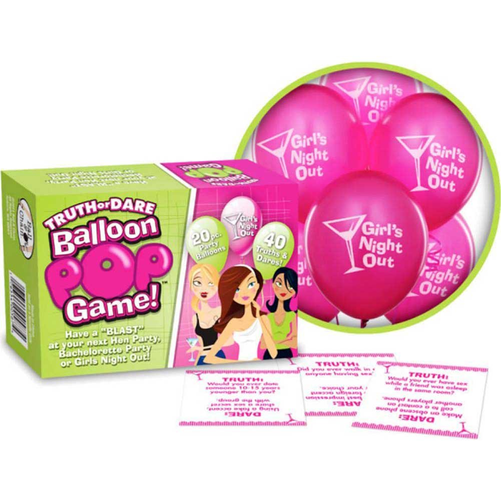 Bride-to-Be Truth or Dare Balloon Pop Game Includes 20 Balloons - View #1