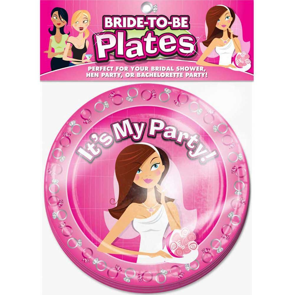 "Bride to Be 8"" Plates 10 Piece Pack - View #1"