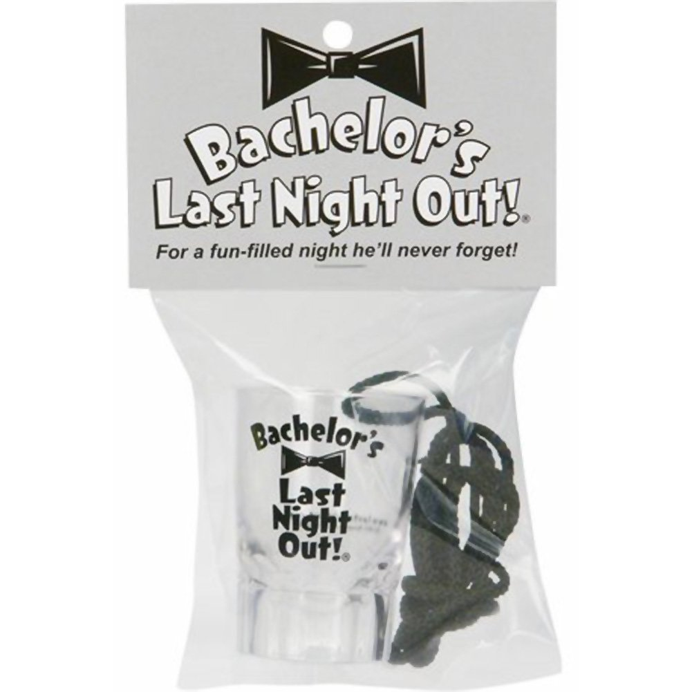 Bachelor Last Night Out Shot Glass - View #1