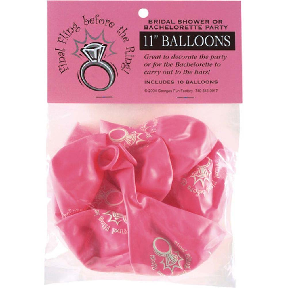 Final Fling Before the Ring Balloons 10 Piece Pack - View #1