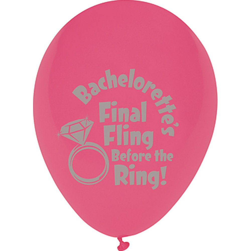 Final Fling Before the Ring Balloons 10 Piece Pack - View #3