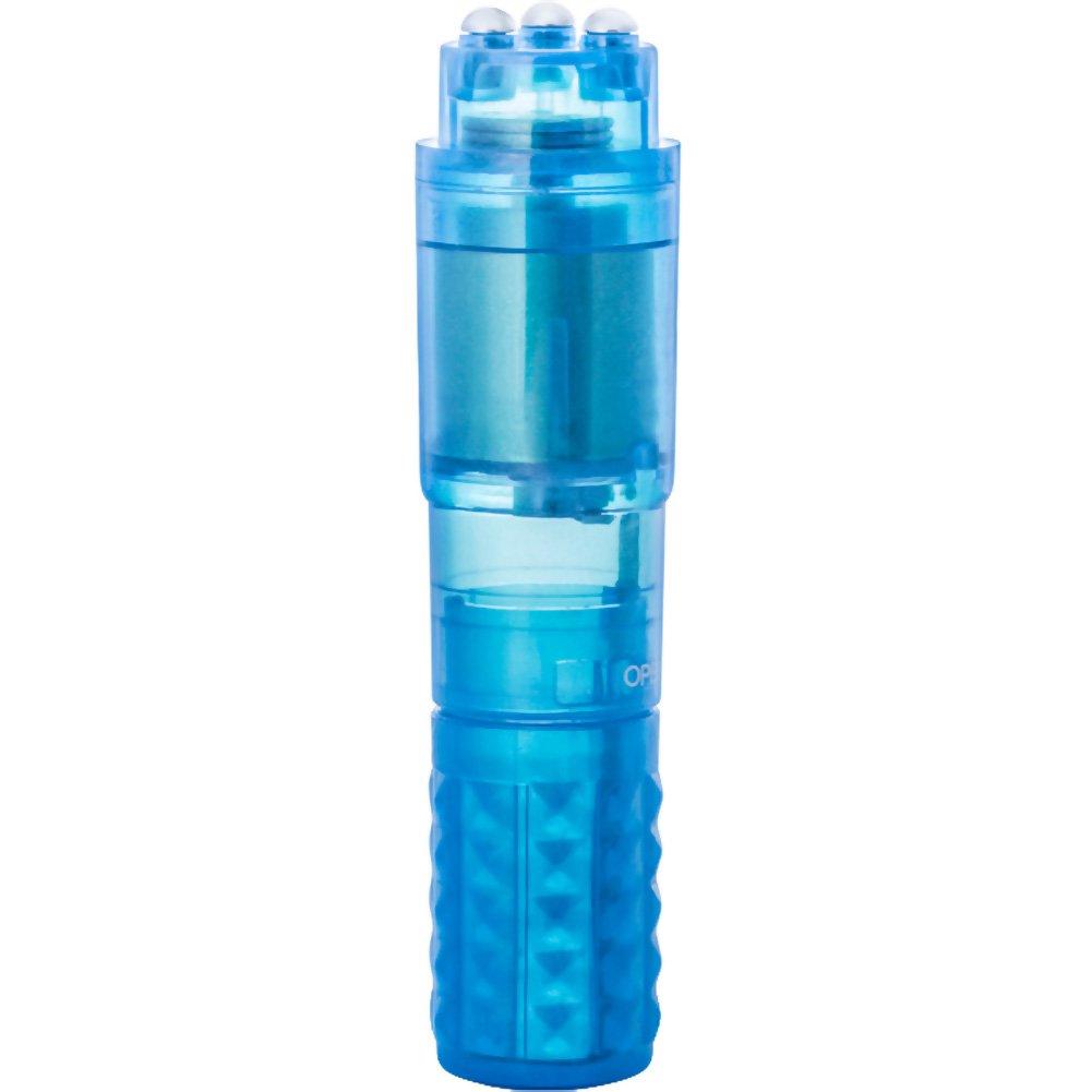 """Blush Clit Rocker Mini Vibrator 4"""" Blue Bulk - View #2"""