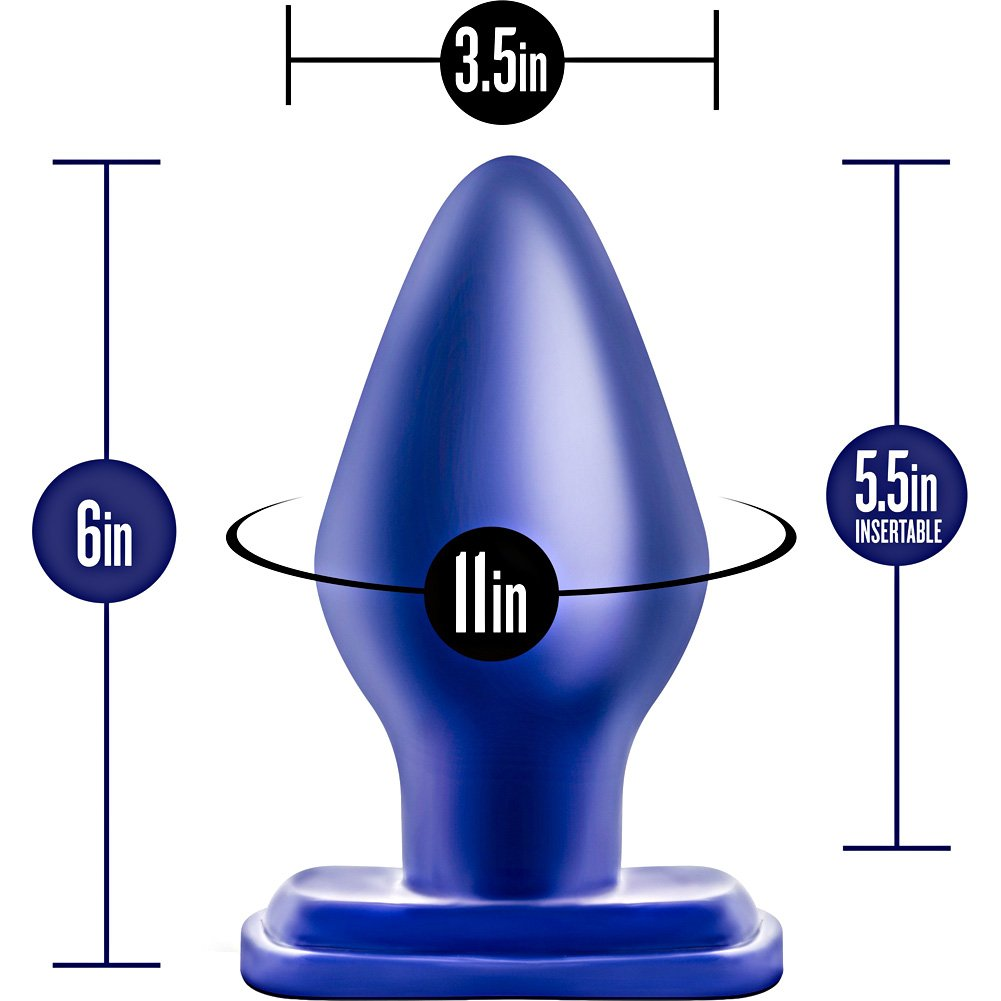 "Blush Novelties Performance 01 Anal Pleasure Plug 5.5"" Indigo Blue - View #1"