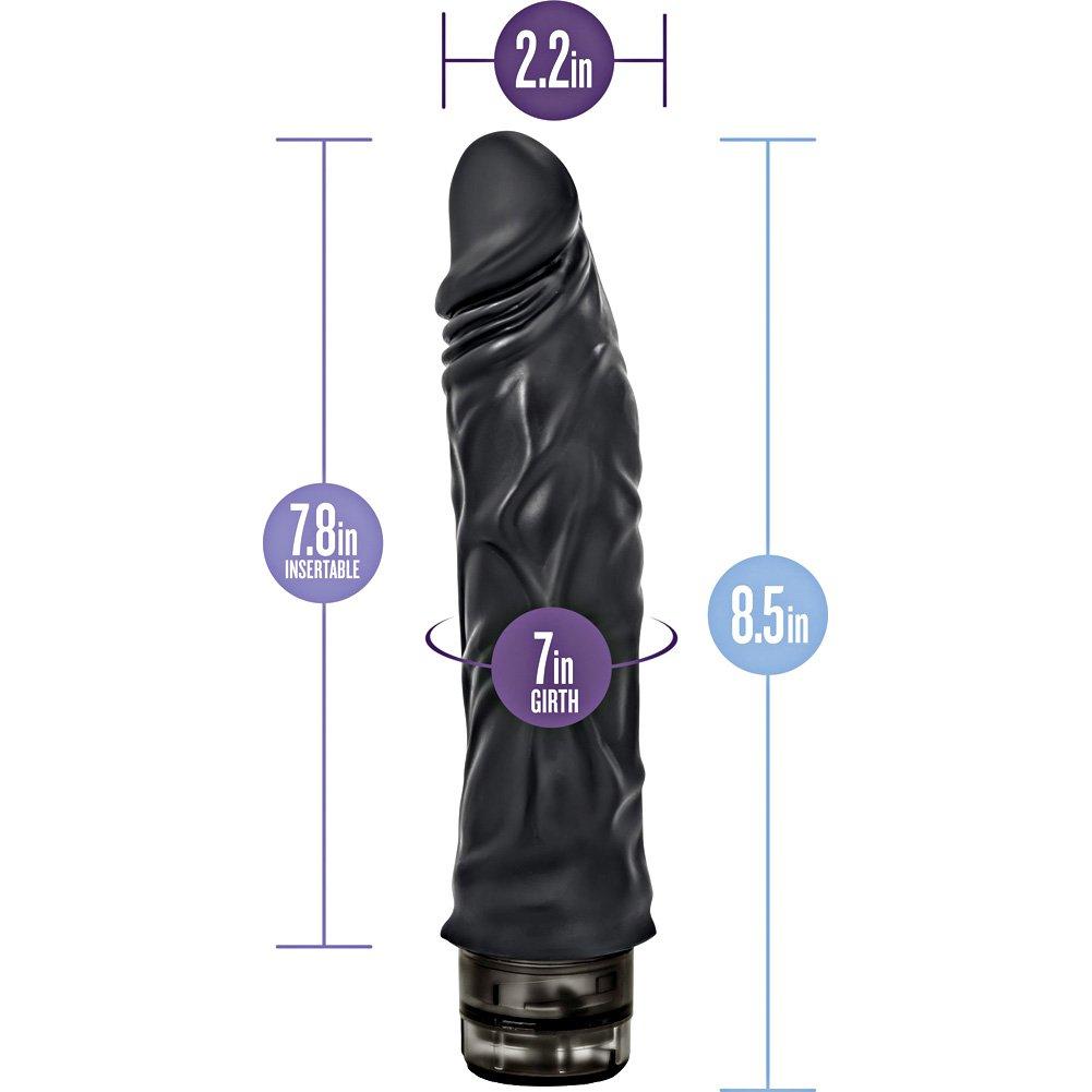 "Blush Novelties Hard Steel Power 9 Personal Vibrator 9"" Black - View #1"