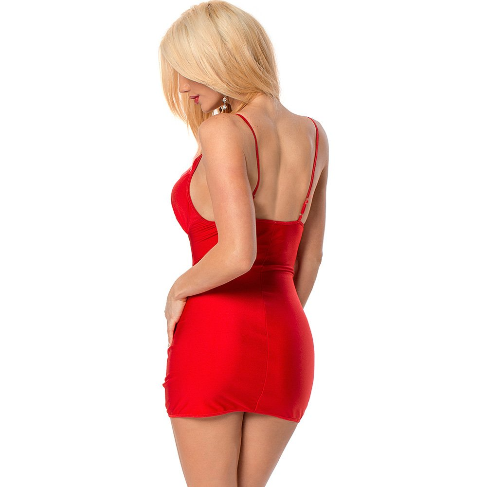 Strappy Jeweled Dress Red One Size - View #2