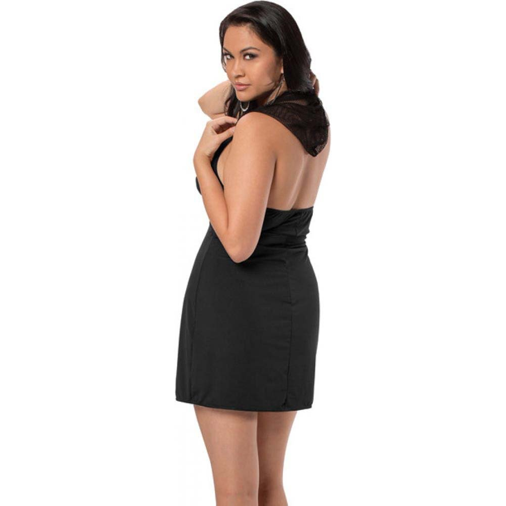 Halter Hooded Dress Black Queen - View #2