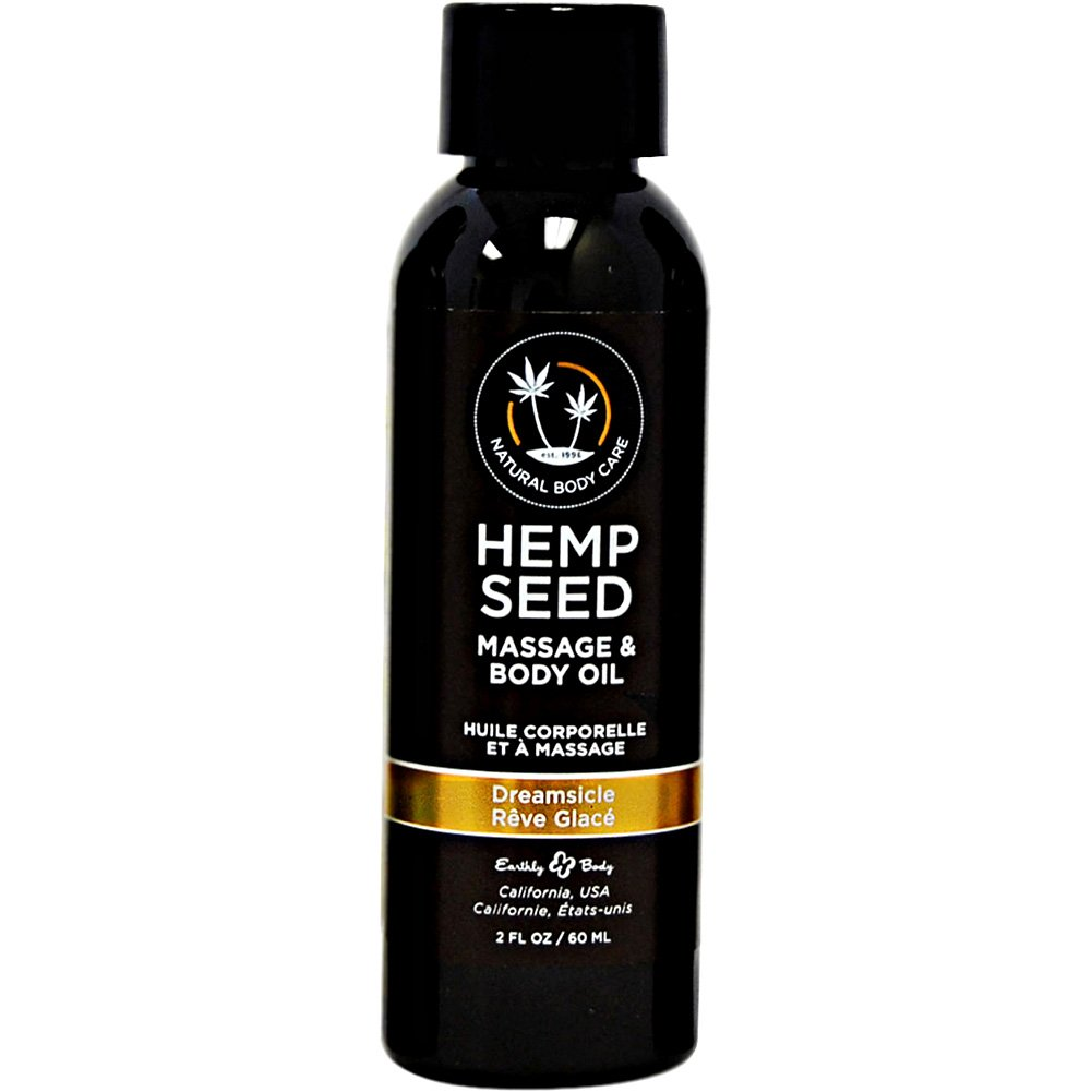 Earthly Body Hemp Seed Massage and Body Oil 2 Fl.Oz 60 mL Dreamsicle - View #1