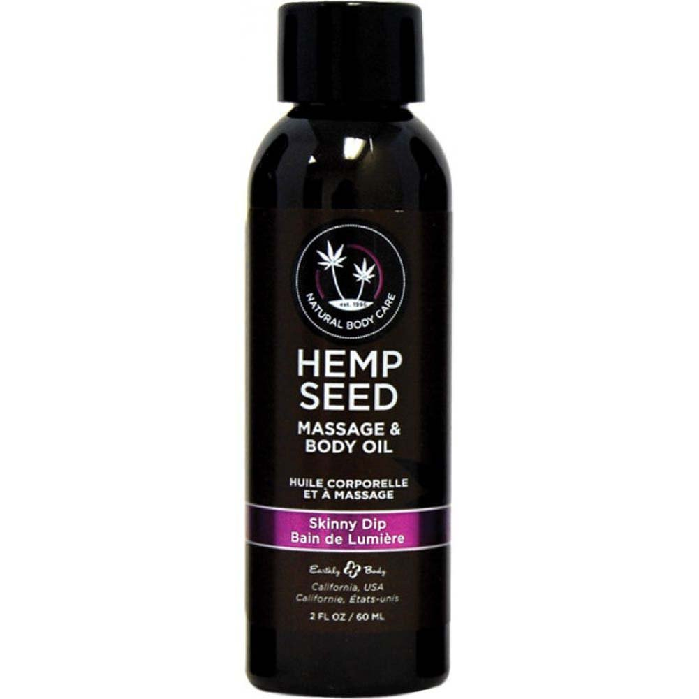 Earthly Body Hemp Seed Massage and Body Oil 2 Fl.Oz 60 mL Skinny Dip - View #1