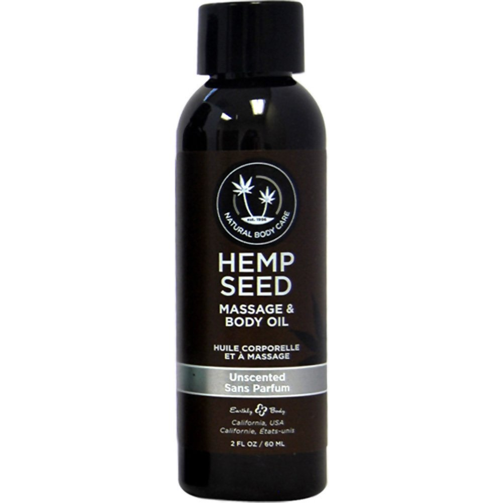 Earthly Body Hemp Seed Massage and Body Oil2 Fl.Oz 60 mL Unscented - View #1