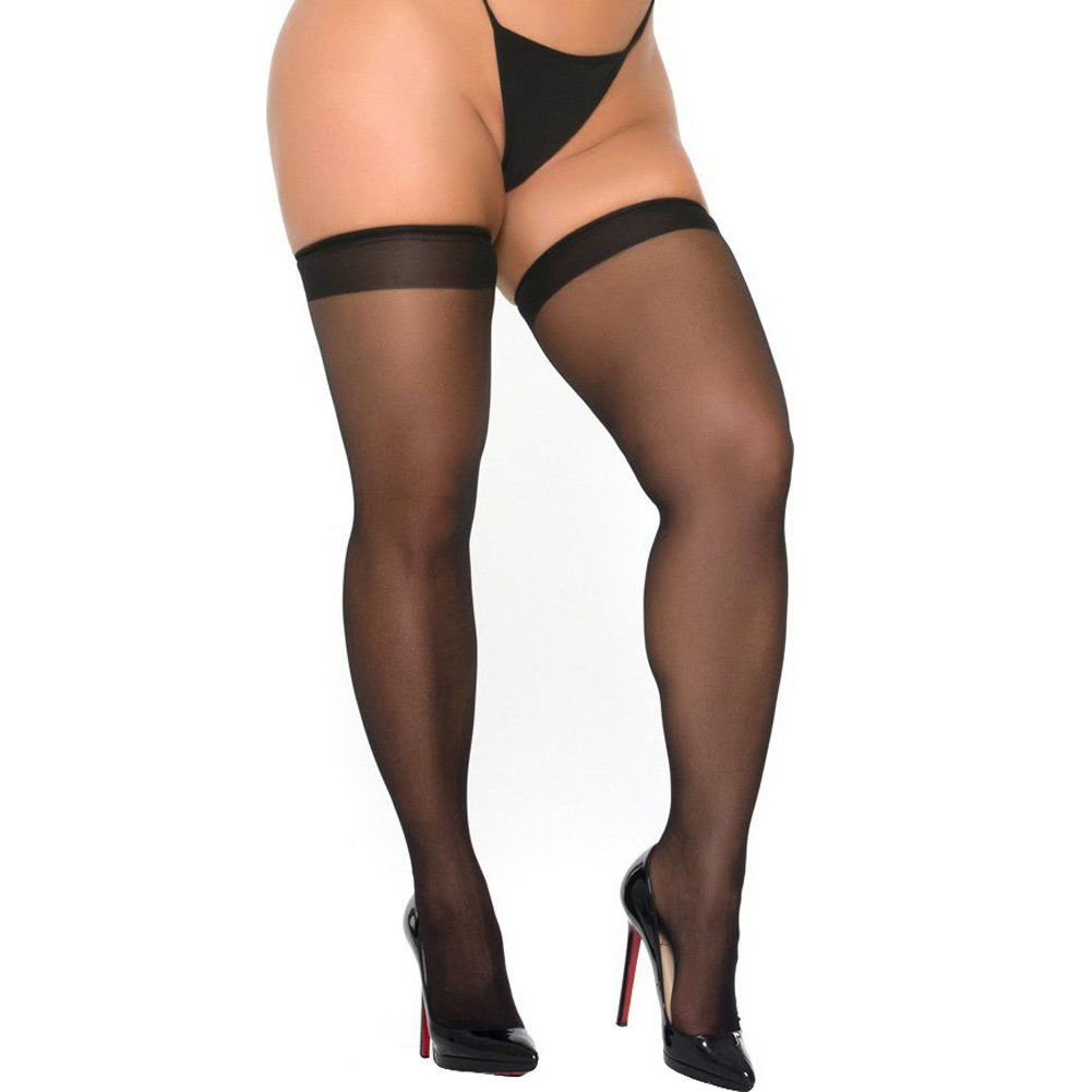 Cocolicious Over the Line Thigh Highs Black One Size - View #2