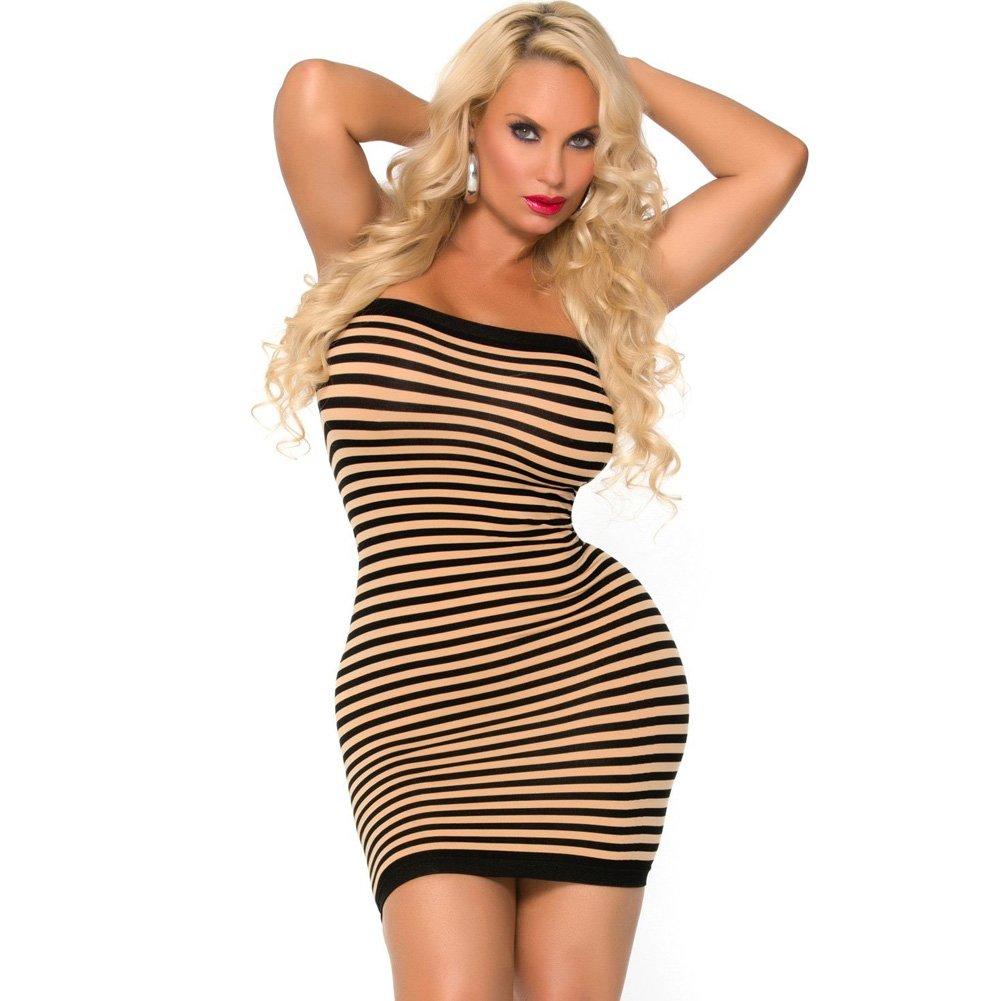 Cocolicious Hot Coco Tube Dress Nude/Black One Size - View #1