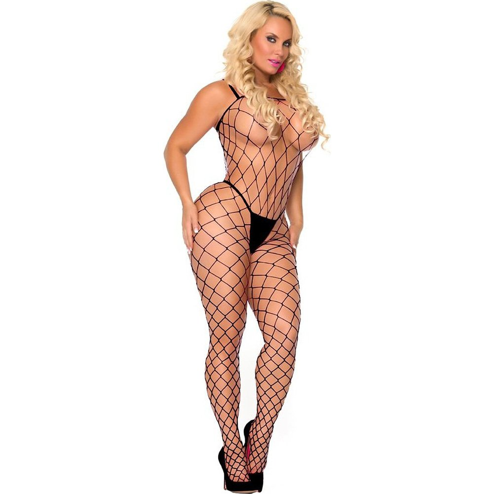Cocolicious Fenced in Net Bodystocking Black One Size - View #1