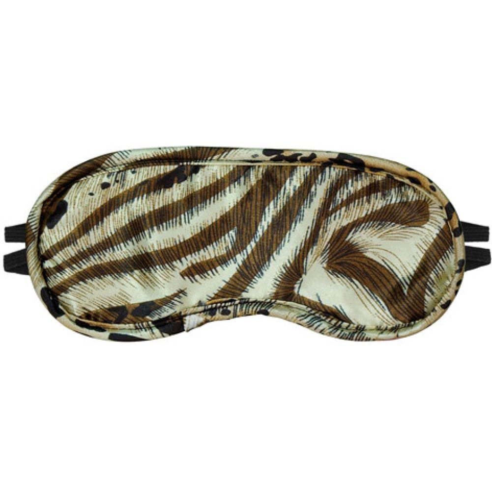 Erotic Toy Satin Fantasy Blindfold with 2 Straps Animal Print - View #2