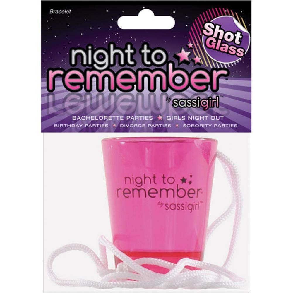 Sassigirl Night to Remember Shot Glass Necklace Pink - View #1