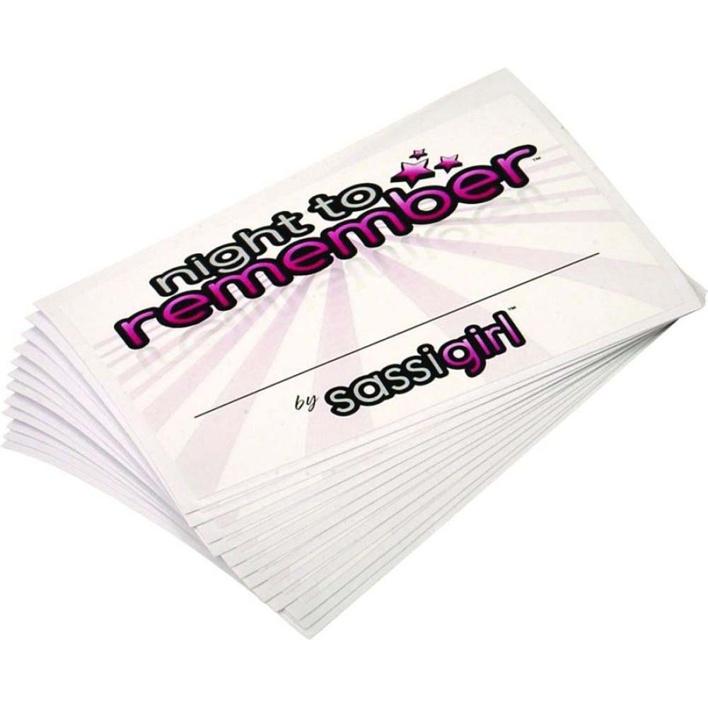 Night to Remember Party Name Tags 12 Piece Pack by Sassigirl - View #2