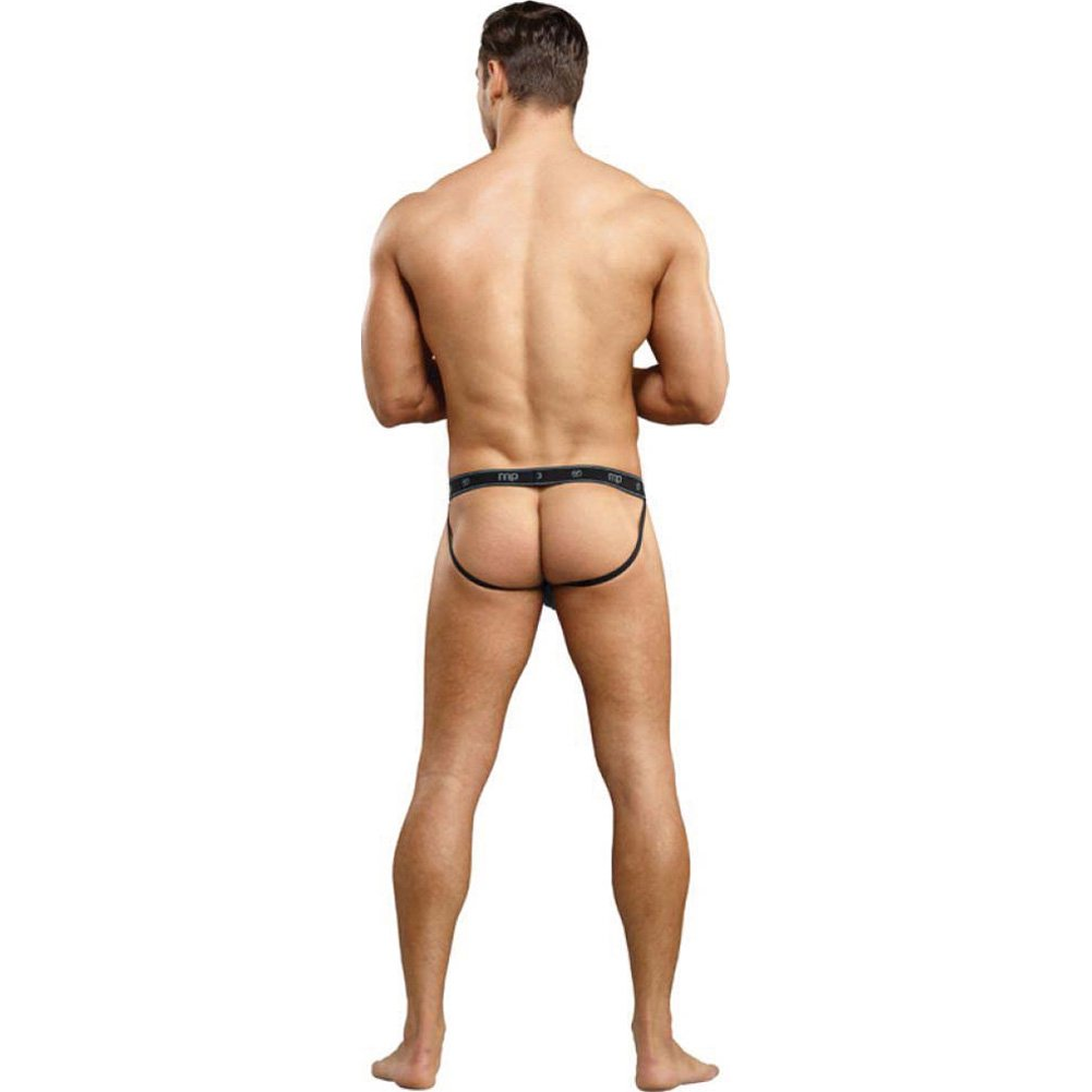 Male Power Bamboo Sport Jock Thong Large/Extra Large Black - View #4