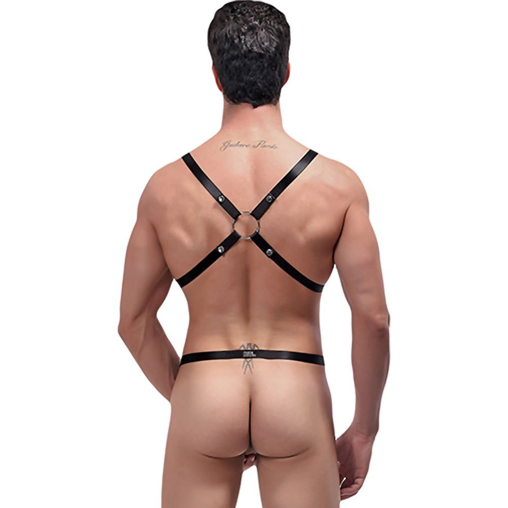 Male Power Rip Off Harness Set One Size Black - View #2