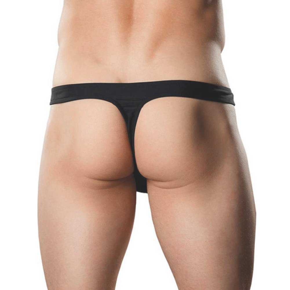 Male Power Mens Bong Thong Small/Medium Black - View #2
