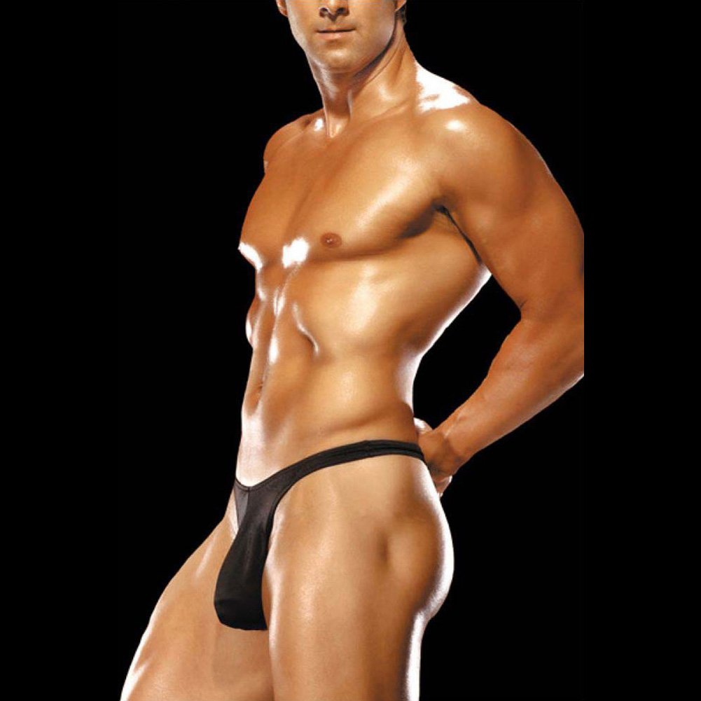Male Power Mens Bong Thong Large/Extra Large Black - View #3