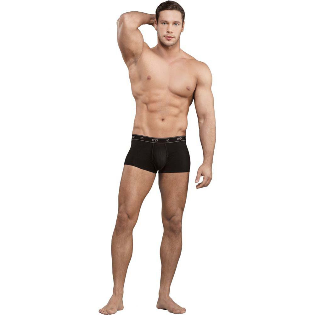 Male Power Bamboo Low Rise Pouch Enhancer Shorts Extra Large Black - View #3