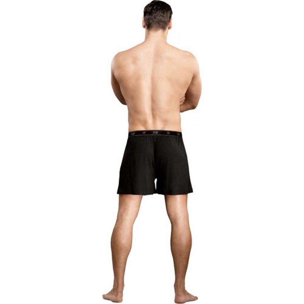 Male Power Bamboo Boxer Shorts Small Black - View #2