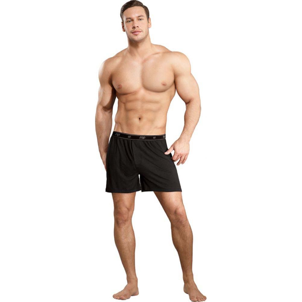 Male Power Bamboo Boxer Shorts Extra Large Black - View #3